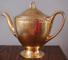 Wheeling Decorating Company gold coffee pot