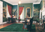 Campbell Mansion Artifacts; new parlor, 1990