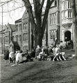 Students having an outside class