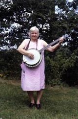 learning the banjo, relatives (talking)