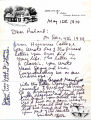 "Letter, 1974, May 16, Greenup, K.Y., to ""Dear Roland,"" [Roland D. Carter]"