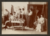 [Miss Butler and her basket weaving class] / [unknown].