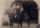 [Mr. and Mrs. Alexander A. Arthur on horseback at their home in Harrogate, Tennessee] / [unknown].