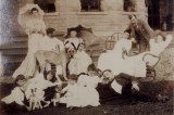 [The Alexander A. Arthur family on the lawn at their home in Harrogate, Tennessee] / [unknown].