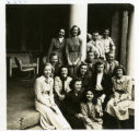 Group of Students on Hardin Hall Porch