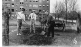 Regrading of athletic field, 1921