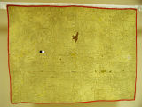 [Quilt, Yellow With Red Border Wholecloth, Compound View]