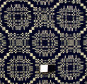 [Coverlet Section, Unnamed Geometric Pattern]