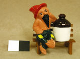 [Salt and Pepper Set, Hillbilly,  Jug, Hillbilly, and Bench]