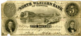 North Western Bank of Virginia Five Dollar Private Bank Note