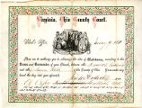 Marriage certificate for Frederick Rodering and Louisa Held, January 9, 1861.