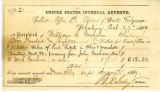 United States Internal Revenue receipt for taxes paid on inheritance for John Goshorn's child,...