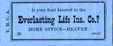 Y.M.C.A. Life Insurance Ticket