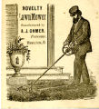 Novelty Lawn Mower Advertising Card