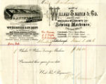 William Sumner & Company receipt for sewing machine