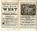 Baltimore and Ohio Railroad Time Table and Map