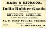 Bart & Hickcox Manufacturers and Dealers in India Rubber Goods, Cincinnati, OH