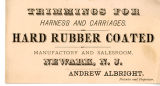 Andrew Albright Harness and Carriages Hard Rubber Coated Trimmings