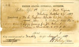 United States Internal Revenue receipt for taxes paid on inheritance for John Goshorn's...