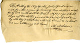 Note from McCoy & Moore to John Goshorn, May 31, 1839