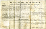 Enoch Hart land grant for Wooster Ohio, signed by John Quincy Adams