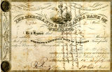 Merchant and Mechanics Bank of Wheeling Stock Certificate