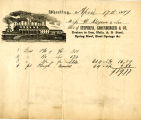 Stephens, Shoenberger & Company Nail and Steel Dealers receipt for D. Kilgore & Sons