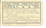 Orchestral program, Oakland Hotel, Saturday August 17, 1901