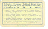 Orchestral program, Oakland Hotel, Sunday August 18, 1901