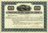 Pennsylvania and West Virginia Coal Company. [Stock certificate]